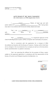 Address Affidavit Sample Simple Financial Statement
