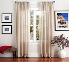 Sheer Curtains Living Room Belgian Linen Flax Sheer Curtain Pottery Barn Au
