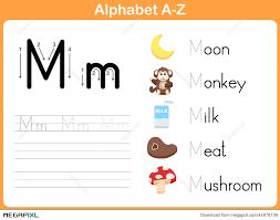 Alphabet Tracing Worksheet: Writing A-Z Illustration 44976139 ...