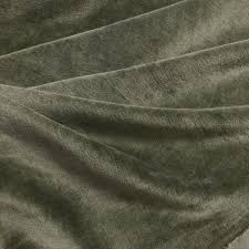 Remnant <b>1m Organic</b> Velour Fabric ivy green, GOTS-certified ...
