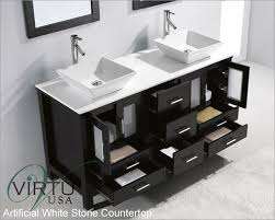 bathroom vanities double sink 60 inches. Ariel Bath SCMAY60SWH Mayfield 60 Double Sink Bathroom Vanity Set Contemporary Regarding 0 Vanities Inches N