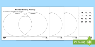 A Venn Diagram Tracks Which Of The Following Venn Diagram Number Multiples Sorting Activity Venn