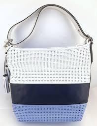 NWT Coach 22412 Legacy Perforated Stripe Duffel Handbag