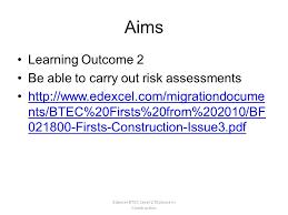 edexcel btec level diploma in construction risk assessment unit  2 edexcel