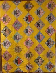 Antique 1925-1960 Quilts & Antique Quilt 6522. Yellow Cactus Basket from homesteaded farm in Indian  Territory near Marlow, OK by Daisy Robertson's grandmother Eunice Cox Lee,  ... Adamdwight.com