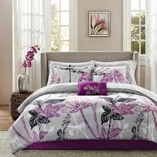exotic fl purple bedding set ideas for master bedroom