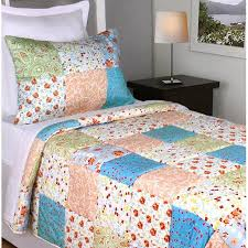 Cheap Simple Patchwork Quilt, find Simple Patchwork Quilt deals on ... & Get Quotations · Jovi Home Flower Garden Patchwork Quilt Set Adamdwight.com