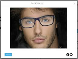 the virtual mirror will give you an idea of how the style the shape and the color of the frame adapt with your face shape