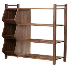 Outdoor 4-Tier and 3-Compartment Shoe Rack