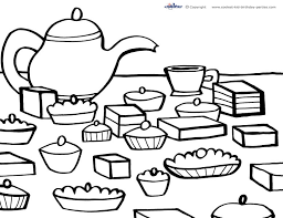 Printable Tea Party Coloring Page 5