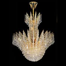 arrow decorative 8 light ceiling crystal chandelier in gold