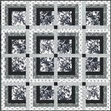 Black And White Quilt Patterns Impressive Quilt Inspiration Free Pattern Day Black And White Quilts