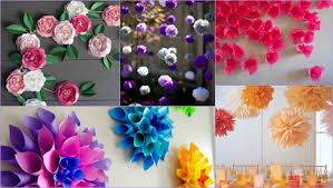 Paper Flower Decor 10 Paper Flower Decoration Styles That Will Make Any Place Look Marvy