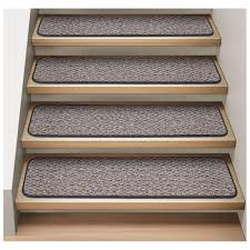image of stair treads rugs gray