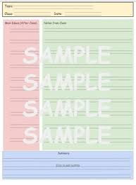 Cornell Notes Colored 2 Lined Template