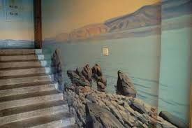 Image Pictures Staircase Wall Decorating With Landscapes Lushome Amazing Painting Ideas For Staircase Wall Decoration With Gorgeous