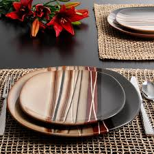 better homes and gardens plates. Unique Homes Amazoncom  Better Homes And Gardens Bazaar Brown 16Piece Dinnerware Set  Sets With And Plates