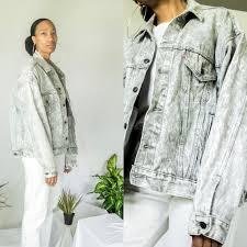 Light Gray Denim Jacket Vintage 80s Levis Denim Jacket Light Gray Acid Depop