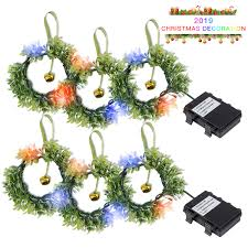 Battery Pack Lights For Wreath 2 Pack Battery Operated String Lights Christmas Garland Wreath Led String Lights Color Changing Garland Lights For Home Party Indoor Outdoor