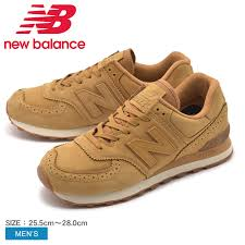 new balance new balance 574 men s sneakers brown ml574led 225 shoes brand casual import leather full