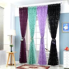 Floral colorful curtains for window curtain panel semi-blackout kitchen  curtains purple custom window curtains