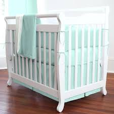 mint green 7 pieces set crib bedding baby chevron nursery per quilt c and mint baby bedding