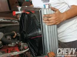 upgrading a c3 corvette cooling system corvette fever magazine flex a lite universal radiator fan combo install chevy high performance magazine