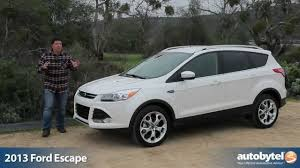 2013 Ford Escape EcoBoost Test Drive & Crossover SUV Video Review ...