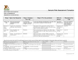 Risk Assessment Form Sample 24 Images Of Sample ACH Risks Assessments Template Leseriail 11