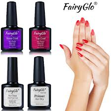 How Do You Dry Gel Nail Polish Without Uv Light Us 1 18 30 Off Fairyglo Uv Gel Nail Polish Top Base Coat Primer Fast Air Dry Matte Top Coat Led Lamp Nail Art Nail Gel Base Gel Nail Polish Ink In