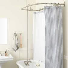 the d style curtain ring allows installation to a side wall and provides ample room for