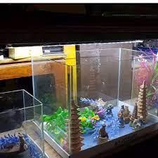 Đèn LED siêu sáng CAIBAO T4-40LED dùng cho bể cá, hồ cá mini 40 - 50 cm (  Màu trắng)   LONG HOA