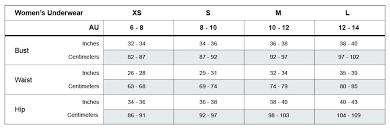 Cloth Size Chart Australia New Womens Size Chart Mosmann Australia