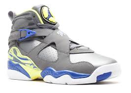 jordan 8 cool grey. girls air jordan 8 retro (gs) - 580528 038 cool grey/vlt frc-electrc yllw | flight club grey e