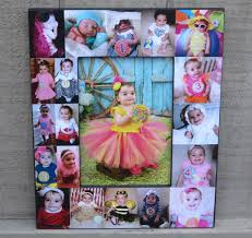 baby collage frame baby photo collage frame babys first year frame