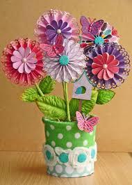 Paper Flower Pots Flower Pot Scrapbook Com Paper Flowers For Kids Paper