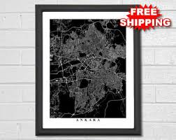 turkey home office. Ankara Map Art - Black And White Turkey Print Custom Travel Home Office D