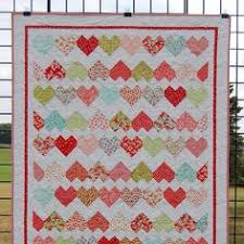 "Handmade Cat Quilt for Sale, ""Fabulous Felines"" features hand ... & Just listed: Pretty little hearts make a beautiful baby quilt. A great gift  idea Adamdwight.com"