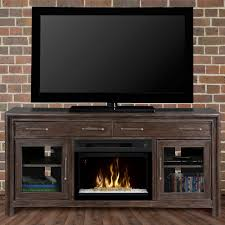 woolbrook distressed nutmeg electric fireplace media console w glass gds25gd 1415wbn
