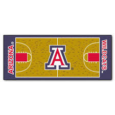 fanmats university of arizona 3 ft x 6 ft basketball court rug runner rug
