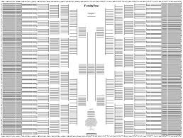 10 Generation Pedigree Chart Template 10 Generation Giant Bow Tie Chart Tree Templates