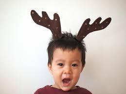 diy felt reindeer antlers