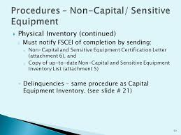 Provided By Financial Services Capital Equipment Inventory