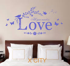 Love Bedroom Decor All You Need Is Love Quote Vinyl Wall Decal Art Decor Sticker