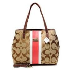 ... bags 49.99  coach hamptons weekend signature stripe medium khaki totes  aew definitely suits any graceful ladies come here