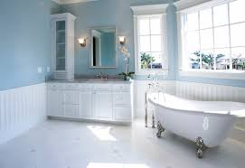 bathroom color idea with light blue wall to create cool nuance that combined white paint and the application of furniture is situated as well for bathroom color ideas 2014 l54 2014