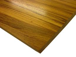 photo of a burmese teak edge grain wood countertop