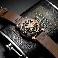 naviforce mens sports watches men top brand luxury leather