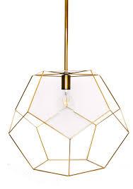 Geo Light Gold Geo Chandelier Light Fixture West Hemlock