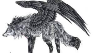 tribal wolf with wings drawing. Beautiful Wings Blackinkwildtribalwolfwithwingstattoostencildesignjpg For Tribal Wolf With Wings Drawing
